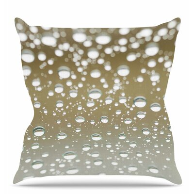 Neutral Rain Throw Pillow Size: 18 H x 18 W x 6 D