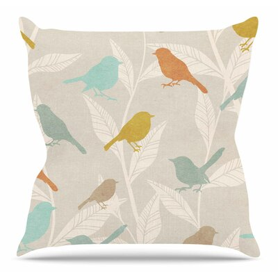 Tweet Throw Pillow Size: 16 H x 16 W x 6 D