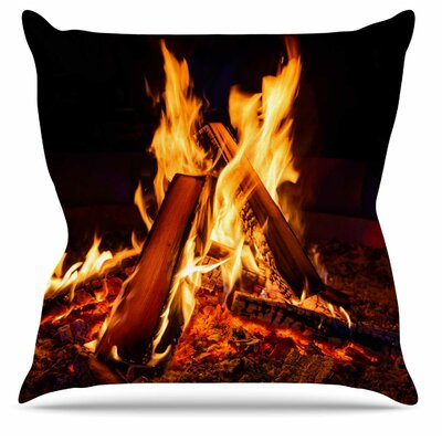 Summer Nights Throw Pillow Size: 18 H x 18 W x 6 D