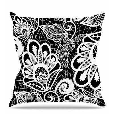 Floral Lace Throw Pillow Size: 16 H x 16 W x 6 D