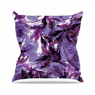 Floral Fiesta Throw Pillow Color: Purple / Multi, Size: 16 H x 16 W x 6 D