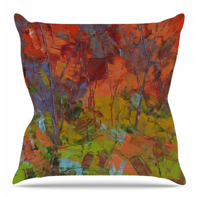 Fall Colours Throw Pillow Size: 16 H x 16 W x 6 D