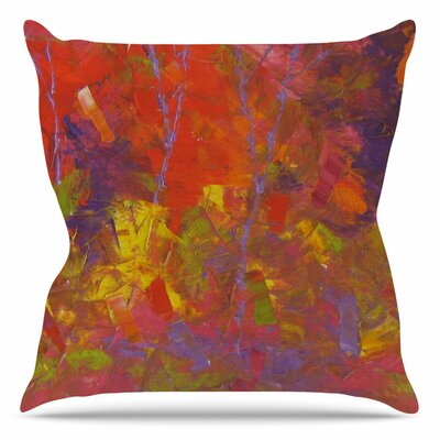 Forest Kaleidescope Throw Pillow Size: 18 H x 18 W x 6 D