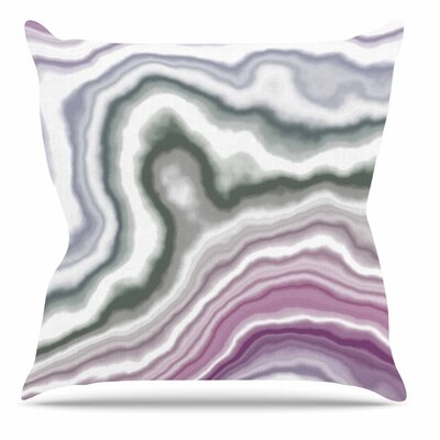 Wild Boysenberry Throw Pillow Size: 16 H x 16 W x 6 D