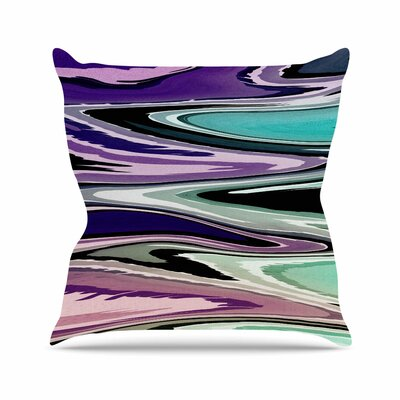 Beach Waves Throw Pillow Color: Multi, Size: 18 H x 18 W x 6 D