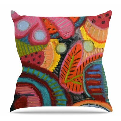 Tropic Delight Throw Pillow Size: 16 H x 16 W x 6 D