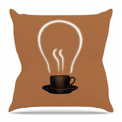 The Power of Coffee Throw Pillow Size: 26
