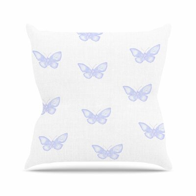 Many Butterflies Throw Pillow Size: 16 H x 16 W x 6 D