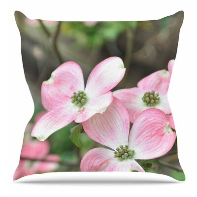 Spring Flowering Dogwood Throw Pillow Size: 18 H x 18 W x 6 D