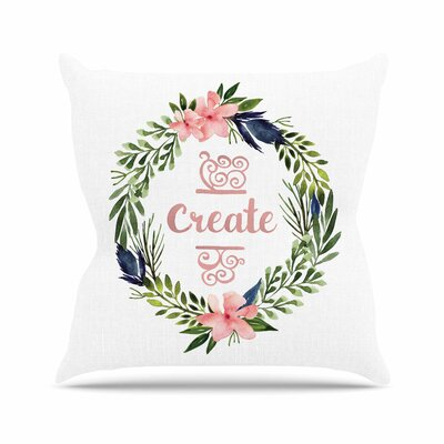 Create Throw Pillow Size: 26 H x 26 W x 7 D