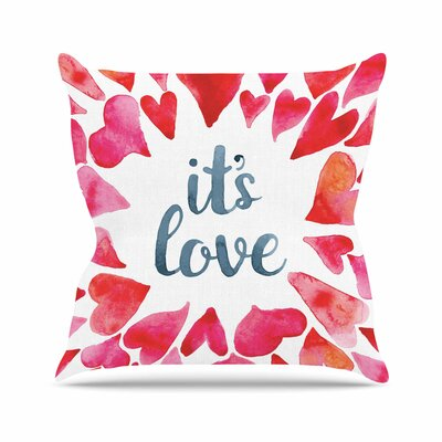 Its Love Throw Pillow Size: 16 H x 16 W x 6 D
