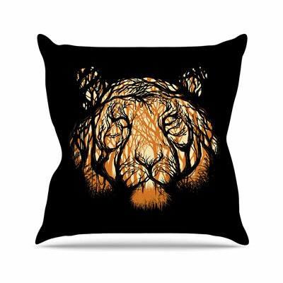 Hidden Hunter Throw Pillow Size: 20 H x 20 W x 7 D