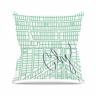 City Streets and Parcels Throw Pillow Size: 20