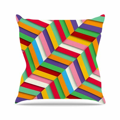 Excuse Me Throw Pillow Size: 18 H x 18 W x 6 D