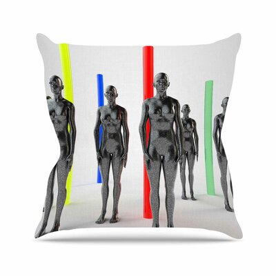 Girls Throw Pillow Size: 16 H x 16 W x 6 D