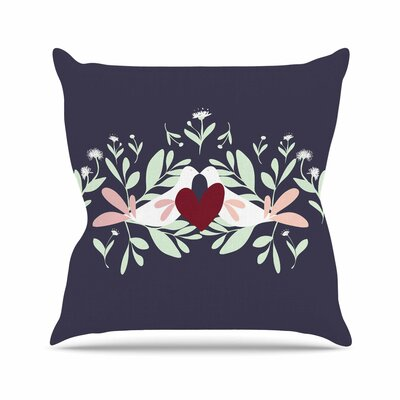 Love Nest Throw Pillow Size: 16 H x 16 W x 6 D