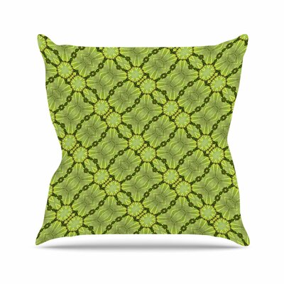 Leafy Lozenges Throw Pillow Size: 16 H x 16 W x 6 D