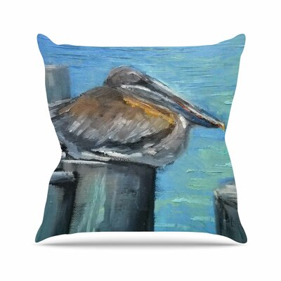 Hunkered Down Throw Pillow Size: 18 H x 18 W x 6 D