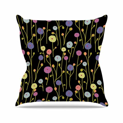 Ranunculas Throw Pillow Size: 16 H x 16 W x 6 D