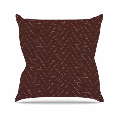 Triangles Throw Pillow Size: 18 H x 18 W x 6 D