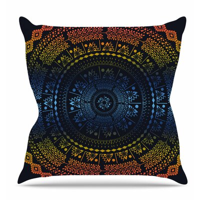 Night Queen Boho Mandala Throw Pillow Size: 16 H x 16 W x 6 D