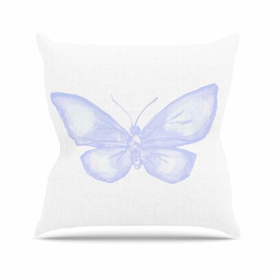 Butterfly Throw Pillow Size: 18 H x 18 W x 6 D