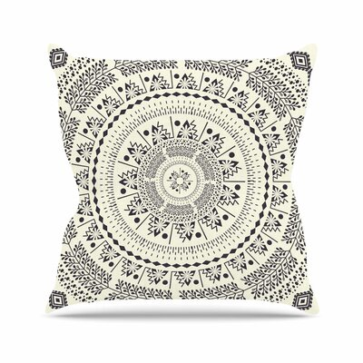Swadesi Boho Mandala Throw Pillow Size: 26 H x 26 W x 7 D, Color: Beige