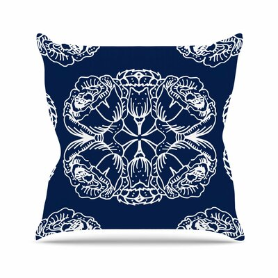 Williams Flowers Throw Pillow Size: 26 H x 26 W x 7 D