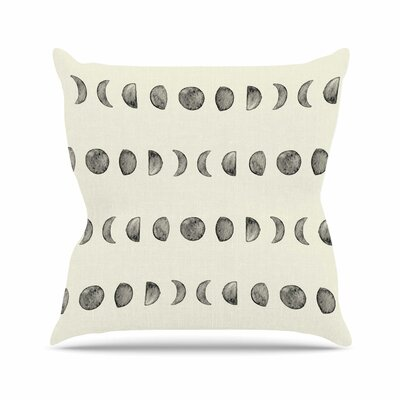 Phases of the Moon Throw Pillow Size: 26 H x 26 W x 7 D