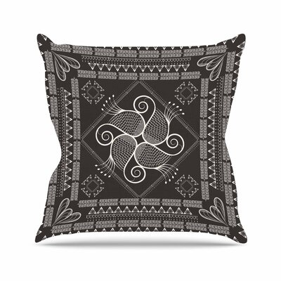 Paisley into the Dream Throw Pillow Size: 18 H x 18 W x 6 D, Color: Gray