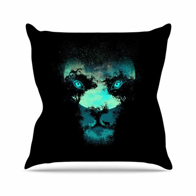 Silence Hunter Throw Pillow Size: 18 H x 18 W x 6 D