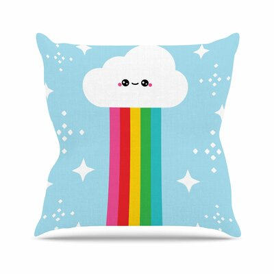 Mr. Rainbow Throw Pillow Size: 26 H x 26 W x 7 D