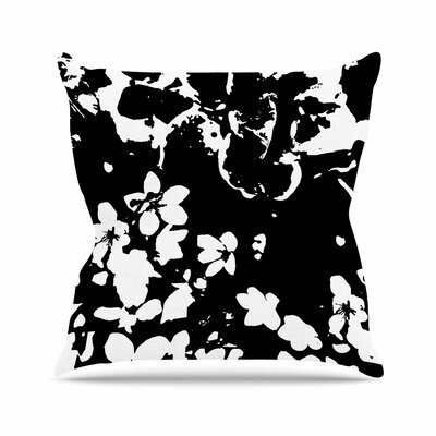 Helena Floral Throw Pillow Size: 18 H x 18 W x 6 D, Color: Black