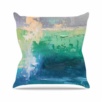 Sea Music Throw Pillow Size: 18 H x 18 W x 6 D