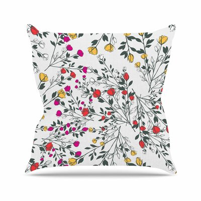 Rose Blossom Garden Throw Pillow Size: 16 H x 16 W x 6 D