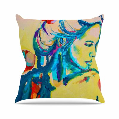 Still Waiting II Throw Pillow Size: 18 H x 18 W x 6 D