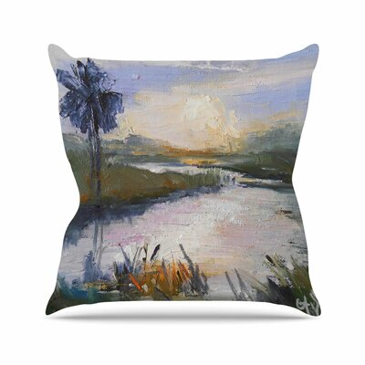 Florida Marshland Throw Pillow Size: 18 H x 18 W x 6 D