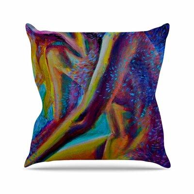 El Color De La Lluvia Throw Pillow Size: 16 H x 16 W x 6 D