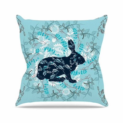 Bunny in the Jungle Throw Pillow Size: 16 H x 16 W x 6 D