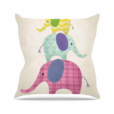 Balancing Act Throw Pillow Size: 16 H x 16 W x 6 D