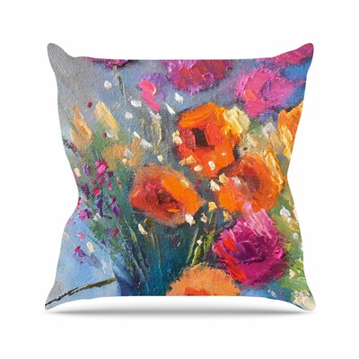 Roadside Bouquet Throw Pillow Size: 18 H x 18 W x 6 D