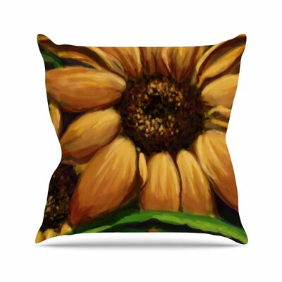 Sunflower Days Throw Pillow Size: 16 H x 16 W x 6 D
