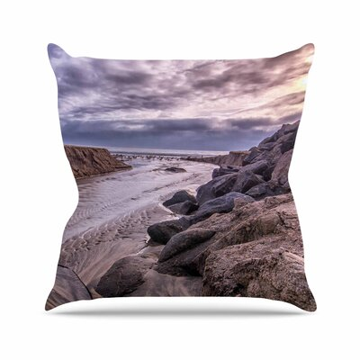 Clouds over Carlsbad Beach Throw Pillow Size: 18 H x 18 W x 6 D