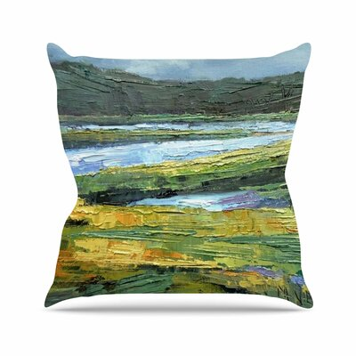Southern Marsh Throw Pillow Size: 16 H x 16 W x 6 D