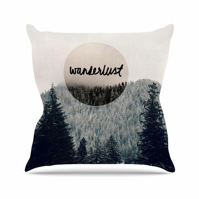 Wanderlust Throw Pillow Size: 16 H x 16 W x 6 D
