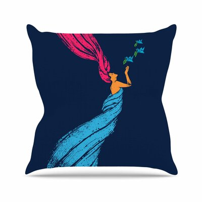 Welcomes Peace Throw Pillow Size: 18 H x 18 W x 6 D