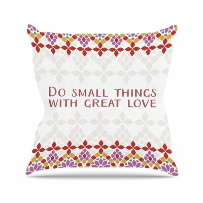 Moraira Love Throw Pillow Size: 18 H x 18 W x 6 D