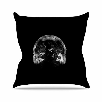 Headphone Throw Pillow Size: 20 H x 20 W x 7 D