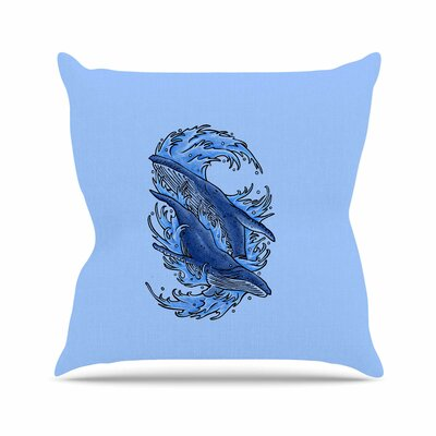 Humpback Whales Throw Pillow Size: 18 H x 18 W x 6 D