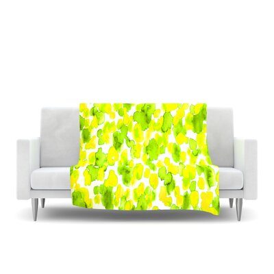 Fleece Throw Blanket Size: 40 L x 30 W, Color: Lemon Lime
